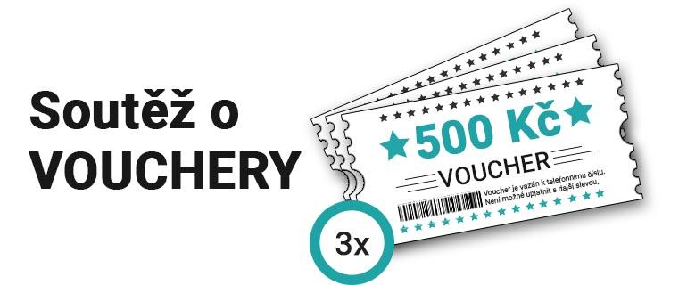 Soutěž o vouchery v celkové hodnotě 1500 Kč.